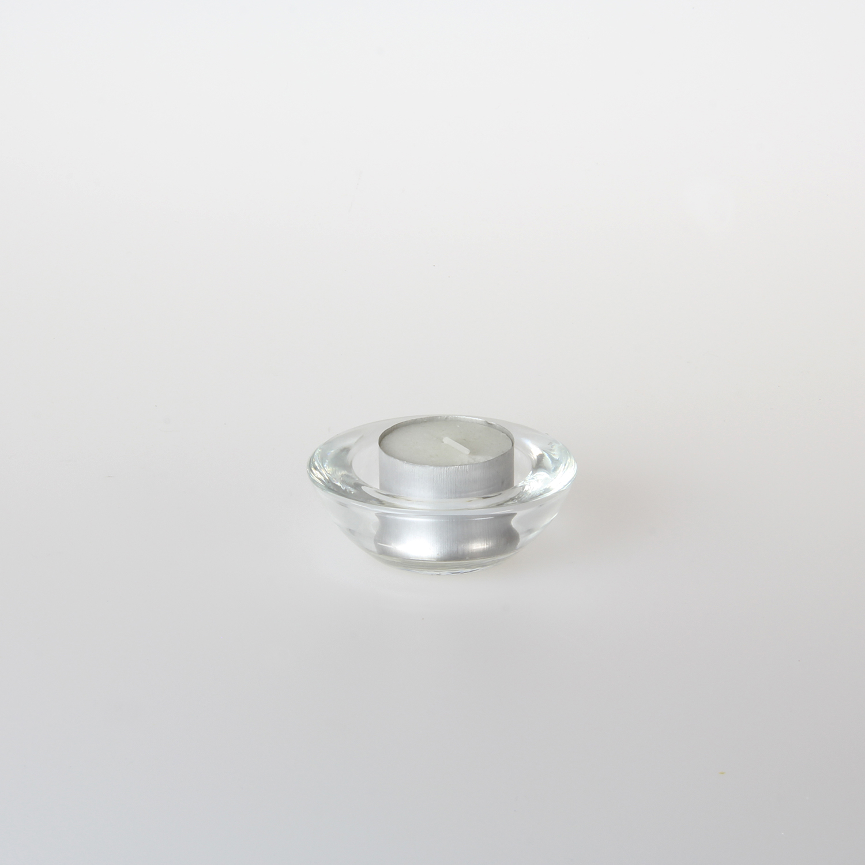 Glass Round Squat Tealight Holders Tvl43